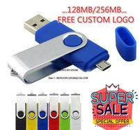 Other Drives Storages Wholesale Otg Flash 256Mb Color Rotary Pen Drive Stick Custom Logo Multicolor Usb Pendrive Small Memory 128Mb 5E Cxbyy