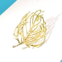 Pins, Brooches CINDY XIANG Fashion Large Metal Plant For Women Vintage Alloy Geometric Tree Brooch Pins Jewelry Coat Accessories