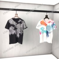 2021 Designers Mens Womens T Camisas Flor Água Cor Man Paris Moda T-shirt Top Qualidade Tees Rua Manga Curta Luxurys Tshirts Asiática M-XXL