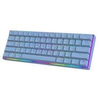미니 60 % 기계식 게임 키보드 61 키 RGB 백라이트 유선 PBT CAP L41E 키보드