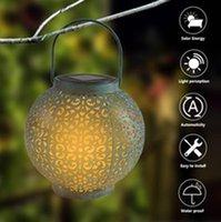 F8 Sombrero de paja Lámpara Beads Control de luz solar Decoración de inducción automática Apariencia impermeable Jardín Retro Lámparas de hierro