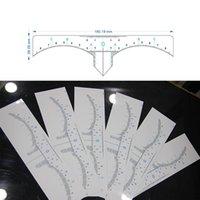 Etiqueta de medição de maquiagem permanente descartável adesivos Sobrancelha Modelo de Modelo de Estêncil Modelo de Modelo