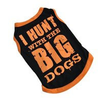 Dog Apparel Orange T-Shirt Pet Clothes Summer Cool Big Print Coat Vest Costumes