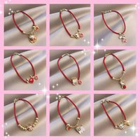 Red benmingnian series red bracelet made of happy Zodiac cattle lucky rope niche design lovers jewelry