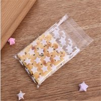 Creative 100pcs Transparent Wedding Candy Gift Plastic Cookie Bags Self-adhesive Christmas Biscuits Cookies Packaging Bag With G Wrap