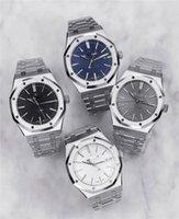 2021 Topkwaliteit Herenhorloge 41mm Automatische Mechanische Lichtgevende Horloges Transparante Cover Volledige roestvrijstalen band Waterproof Horloges