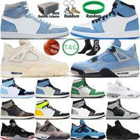 Hiper Kraliyet Üniversitesi Mavi 1 1 S Erkek Basketbol Ayakkabıları 4 4 S Yelken Obsidiyen UNC Gümüş Toe Siyah Kedi Bred Patina Taupe Haze Ateş Kırmızı Mor Gri Spor Erkek Kadın Sneakers