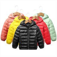 Otoño invierno con capucha niños chaquetas para chicas color caramelo Color cálido niños abrigos niños 2 9 años ropa de prendas de vestir
