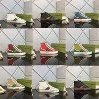 2021 Designer 1977 Tennis Sneaker Leinwand Luxurys Schuh Beige blau gewaschen Jacquard Denim Damenschuhe Ass Gummisohle Gestickte Vintage Lässige Turnschuhe