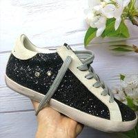 Tasarımcı Altın Süper Yıldız Rahat Ayakkabılar İtalya Marka Eski Kirli Sneakers Kaz Pullu Klasik Beyaz Adam Kadın Eğitmen Kutusu