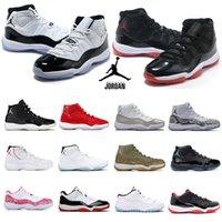 Высочайшее качество баскетбольные туфли Jorden 11 высокий низкий профсоюз Justman Jordens 11s Cap и платье мужские мужские женские университетские тренеры кроссовки размером 36-46 # 111