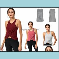 Athletic Outdoor Apparel Sports & Outdoors Design Yoga Outfits Womens T-Shirt Back Workout Clothes Racerback Tank Exercise And Wear Casual F