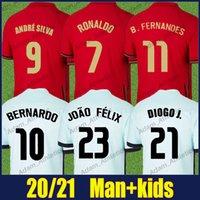 Portugiesisch Ronaldo Fussball Jerseys Nationalmannschaft Uniformen B.Ferrandes Joao Felix Football Jersey Mann Kinder Kit Diogo J. Bernardo Andre Silva Camisa Portuguesa 21/22