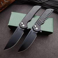 High Quality Automatic Tactical Folding Knife CPM-20CV Black Blade CNC Aviation Aluminum Handle EDC Pocket Folder Knives
