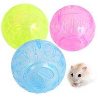 Pet roditore topi jogging palla giocattolo Gerbil ratto plastica esercizio giocattoli portatile divertente criceto solido palle da corsa piccoli accessori accessori forniture animali