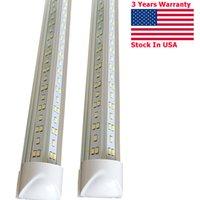 V-образный 2FT 3FT 4FT 5FT 6FT 8FT холодные белые светодиодные трубки T8 интегрированные лампы двойные стороны огни 85-265V США