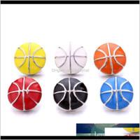 Botón de baloncesto de esmalte18 mm Botón de jengibre DIY Pulsera Collar Haciendo ACC PARA HOMBRES Venta al por mayor AO OTROS EU9ZP