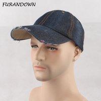 Furandown Fashion Baseball Caps Men Snapbacks Jean Denim Cap Brand Brand Cappelli da golf per le donne Gorras Casquette
