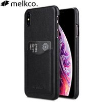 Melkco for Apple Xsmax Case iPhoneXR Back Card XS حالة جلدية