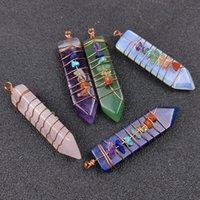 Arrowhead chakra reiki guérir pendulums charmes pierres naturelles pendentif amulette cristal méditation hexagonale pendule pour hommes femmes bijoux fabrication