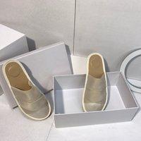 Pantoufles Fashion Femmes Scuffs Sandales de beauté rétro Chaussures Chaussures Véritable Casual Casual Dames Plat Santon Été Extérieur Beach Loafer Party Vacances avec Boîte