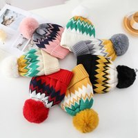 Womens Winter Knitted Beanie Hat Warm Lined Knitted Soft Beanie Women Ski Cap GWF11289
