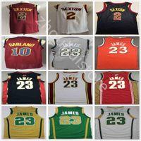 Ретро Баскетбол 2003 2004 Винтажный классический Lebron # 23 Джеймс Джерси Борьба с ирландским красным белым белым синим коллиным 2 Секстон Дариус 10 Гирланд