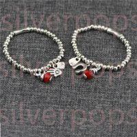 Charm Bracelets Factory Sales Spanish Style For Women Mens In Bulk 50 Bangle Bracelet With Sliver Cute Beads 19CM