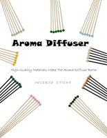 Aromatherapie ätherische Ölfarbe volatile Rattan-Rüstung-Sticks 6 Stück Pack-Aroma-Zubehör Sechs Farben optional