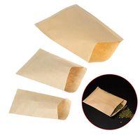 Gift Wrap 100pc Kraft Paper Bag Mini Envelope Bags Candy Snack Baking Package Supplies Glue Box