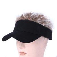 2021 أفضل قبعة بيسبول مع شعر باروكة قبعة البيسبول البيسبول مع الباروكات المسندة الرجال النساء عارضة موجزة موجزة شمس قابل للتعديل قناع