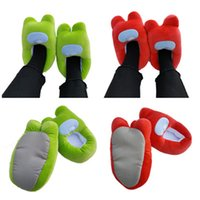 Cross-border product Among Us game doll slippers all-inclusive fat leather shoes for men and women to keep warm at home