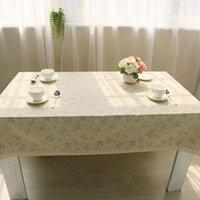 테이블 헝겊 lychee 꽃 인쇄 간단한 직사각형 커버 홈 결혼 생일 파티 식탁보