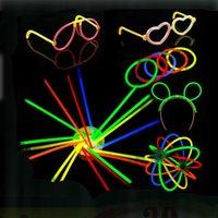 50 шт. Соединительные разъемы навязки навязки оголовки очки бабочка браслеты ожерелья вечеринка флуоресцентный неоновый цвет домашнего декора рождения A0521