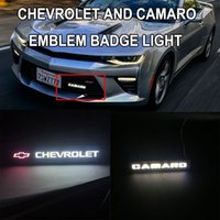 Camaro 배지 엠블럼 DRL 날 러닝 라이트 프런트 후드 그릴 그릴 보닛 LED 로고 램프 Chevrolet Silverado Cruze