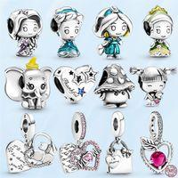 Verão Novo 925 Beads de Prata Esterlina Princesa Series Elefante Charms Apple Fit Pandora Pulseira DIY Jóias Para Mulheres Pingentes Senhora Presente Com Saco Original