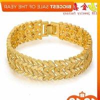Vietnam boy's domineering personality olive branch plated imitation Gold Bracelet
