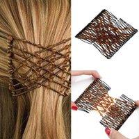 Clips de cheveux 1 PC Peigne Magic Dames Bead Femmes Soldy Femmes Combs Professionnel Double diapositive Double Pinceaux
