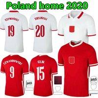 2021 Polska Lewandowski Soccer Jersey National Team Home Away 20 21 أحمر أبيض Milik Pol Piszczek Polonia كرة القدم قمصان الرجال الزي الرسمي