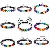 Bracelet Reiki Natural Stone Bead Bracelet Bangle Cuff Buddha Balance hip hop jewelry drop ship ps1921