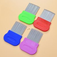NEWDog Cat Head Hair Lice Nit Comb Pet Safe Flea Eggs Dirt Dust Remover Stainless Steel Grooming Brushes Tooth Brushs 7 Colors CCA7665