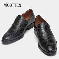 Männer formale Schuhe WOTOTEN MARKE ZEIGE ZEIGENE THEE GESCHÄFT Klassischer sanfter Mann Kleid Schuhe # KD6263C1 210330