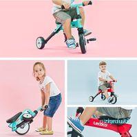 Pliant enfants vélo bicyclettes coups de pied scooters enfant garçon fille bébé équitation tricycle léger pied pied scooters monter sur voiture jouets