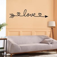 Wall Stickers Black 13x58.5cm Hearts LOVE Sticker Art Wallpaper Living Room Bedroom Home Personalized Creative Decoration