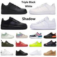 Nike Air Force 1 Shadow One Dunk Low 1 Sıcak Programı Beyaz Siyah Erkekler Kadınlar 1 Düşük Ayakkabı Koşu Spor Kaykay Ones Ayakkabı Beyaz Siyah Düşük Pastel Açık  Spor ayakkabılar