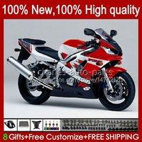 Bodys Kit para Yamaha YZF R6 R 6 98-02 YZFR6 98 99 00 01 02 Bodywork 1No.58 YZF 600 CC YZF-600 YZF-R6 YZF600 600CC 1998 1999 2000 2001 ABS CLETO FAZER RED BLK