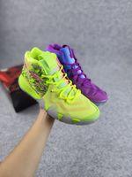 2021 Kyries 4 Confetti Erkek Kadın Çocuklar Basketbol Ayakkabı Satış Yüksek Kalite Çok Renkli Yeşil Siyah Sarı Sneakers Mağaza Kutusu Boyutu ile 4-12