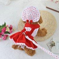 Armipet Heart Shape Shape Dog Robes de chien Chiens Fashion Dress Princesse Robe 6071080 Fournitures de vêtements pour animaux de compagnie (robe + chapeau + culotte laisse = 1 set 558 R2