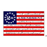 American 2nd Emendamento Bandiera 90 * 150 cm Creative Stripe Poliestere Stati Uniti Bandiere Domestico Decorazione Giardino Prodotti HWB7594