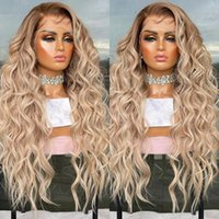 Loose Curly Human Hair Wig 13x4 Caramel Light Blonde Ombre Highlights Colored Transparent Lace Front Wigs Remy Hairs 150% 26 Inch full lacewigs 13x6lace frontal
